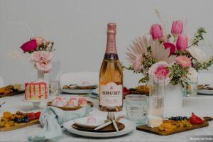 Champagne Brunch Modern Pink Wedding Ideas