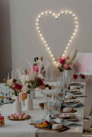Galentines Day Brunch Tablescape