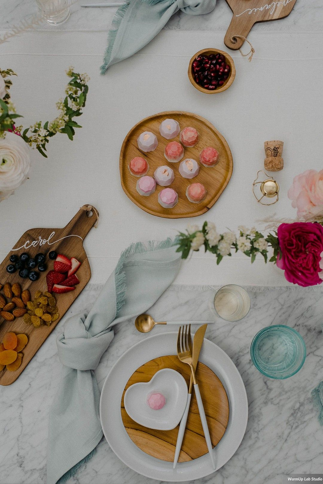 Modern Galentines Day Brunch Place Setting