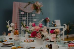 Pink Peach Fuschia Wedding Centerpiece