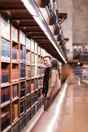 New York Public Library Engagement Photos