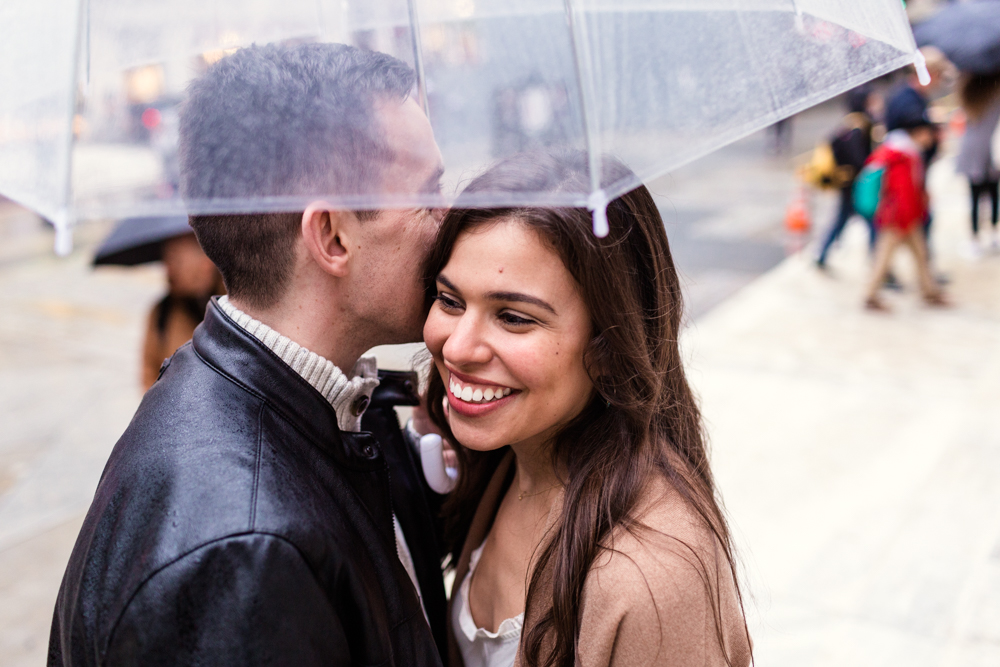 Rainy + Romantic NYC Engagement 13