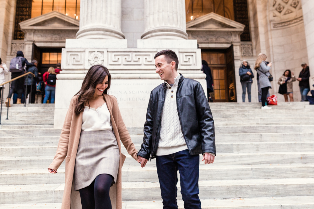 Rainy + Romantic NYC Engagement 4
