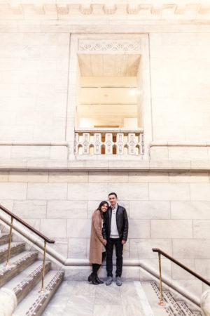 Romantic Rainy Day NYC Engagement Photos