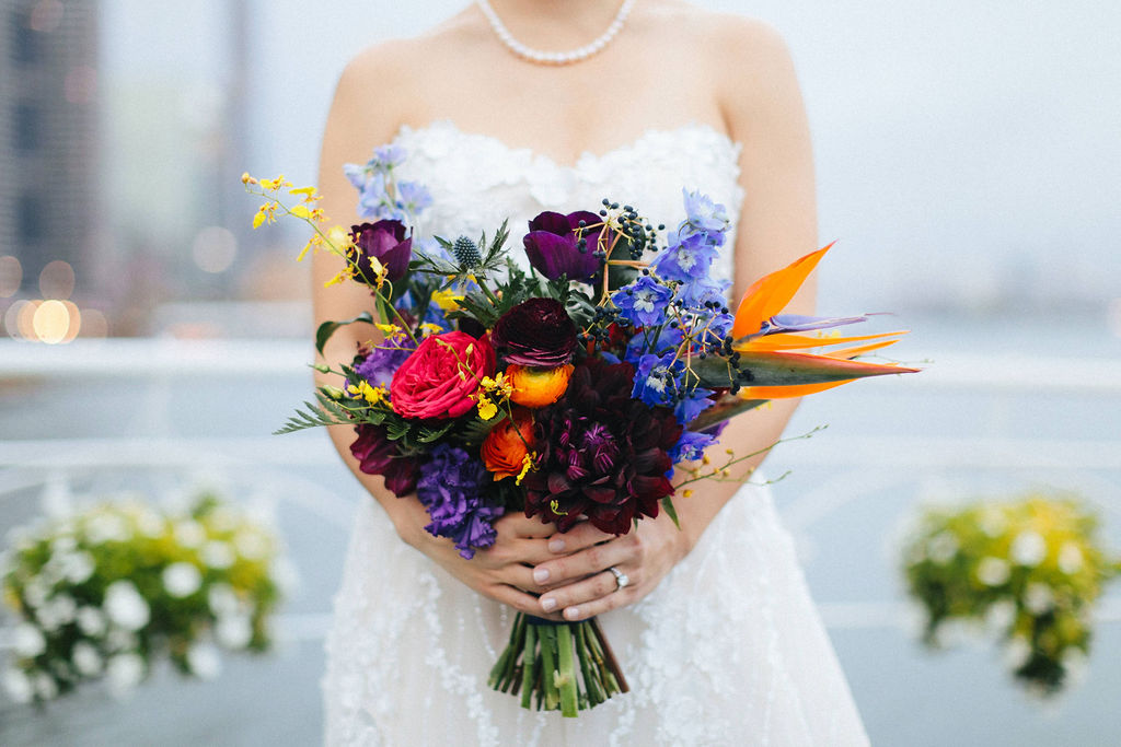 Bold Tropical Wedding Bouquet