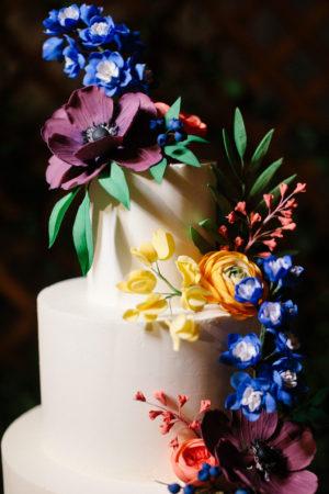 Colorful Wedding Cake Flowers