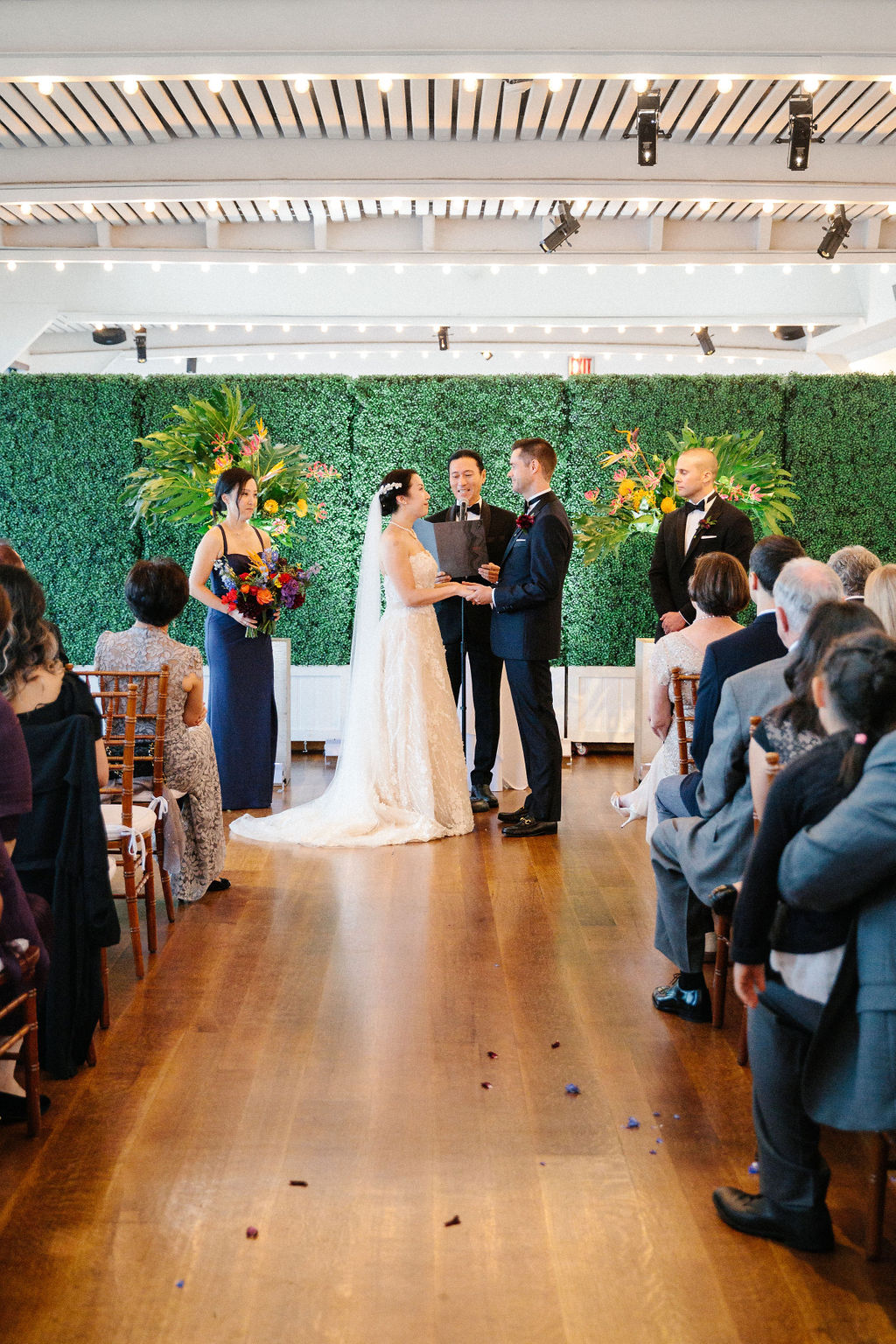 Colorful Wedding Ceremony Flowers