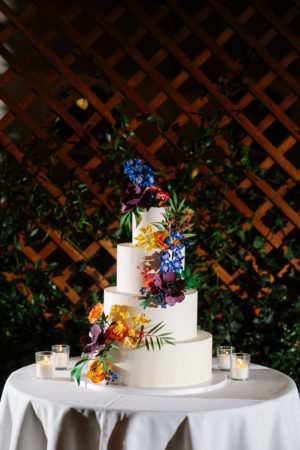 Modern Tropical Wedding Cake