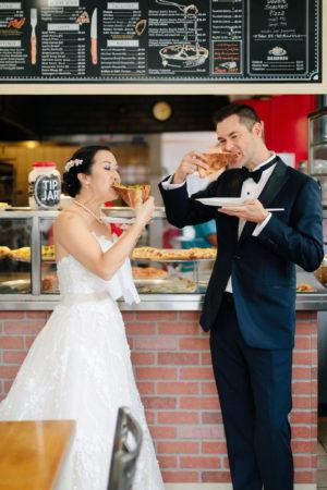NYC Pizza Wedding Photo