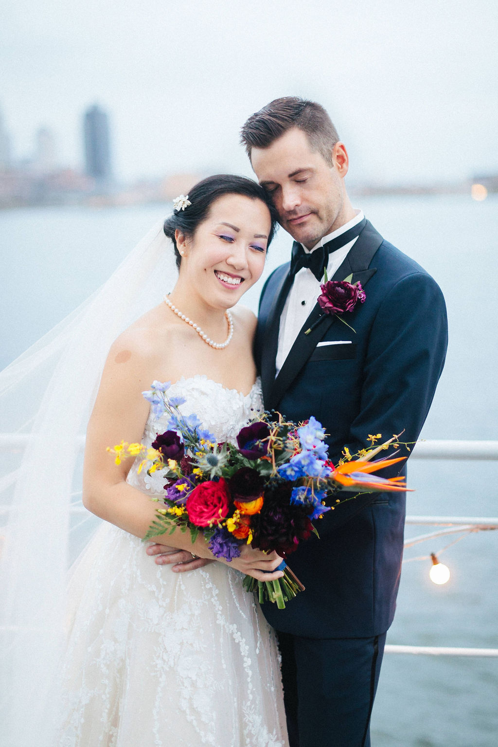 NYC Waterfront Wedding Photo
