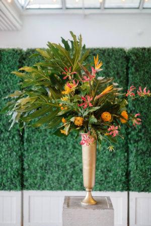 Tall Tropical Wedding Ceremony Flower