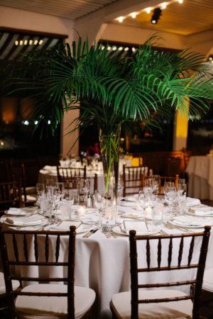 Tropical Palm Frond Centerpiece