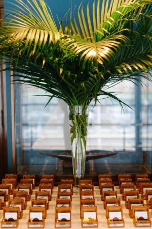 Tropical Wedding Escort Cards Favors