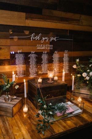 Clear Acryllic Wedding Seating Chart