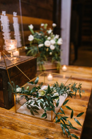 Glass Wedding Card Box