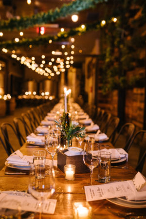 Winery Wedding with Cafe String Lights
