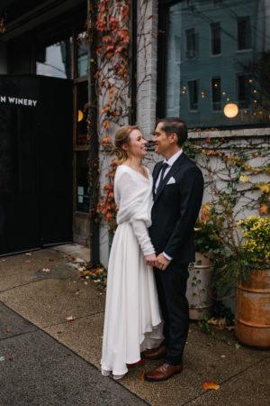 Brooklyn Winery Wedding Portrait