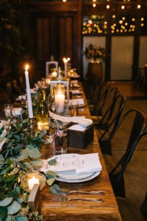 Candlelit Winery Wedding Reception