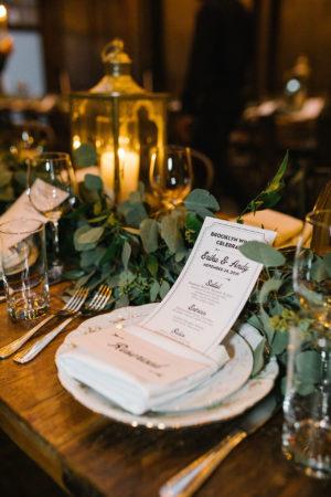 Candles and Eucalyptus Wedding Tablescape