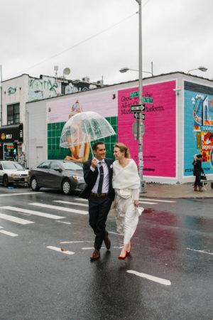 Rainy Day Wedding Clear Umbrella