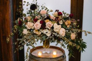 Rose and Eucalyptus Wedding Flowers