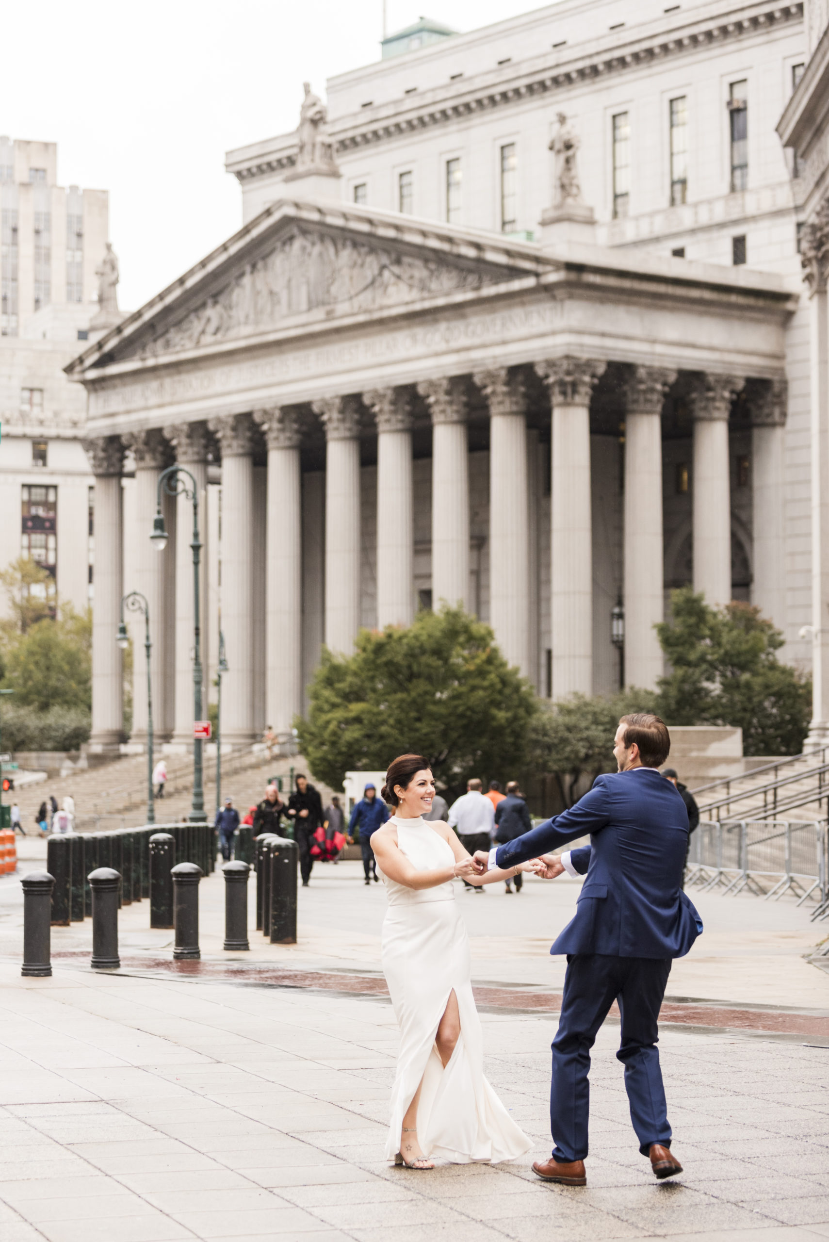 Chic City Hall Elopement 18
