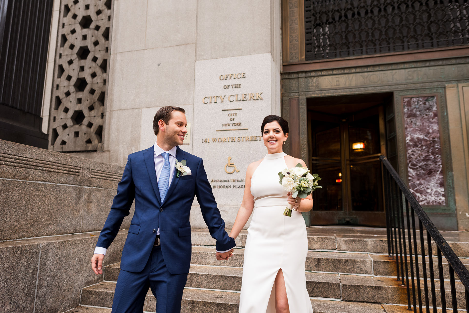 Chic City Hall Elopement 7