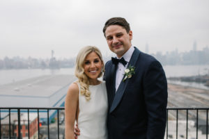 Brooklyn Wedding Rooftop Portrait