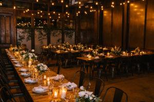 Candle Lit Wedding Reception