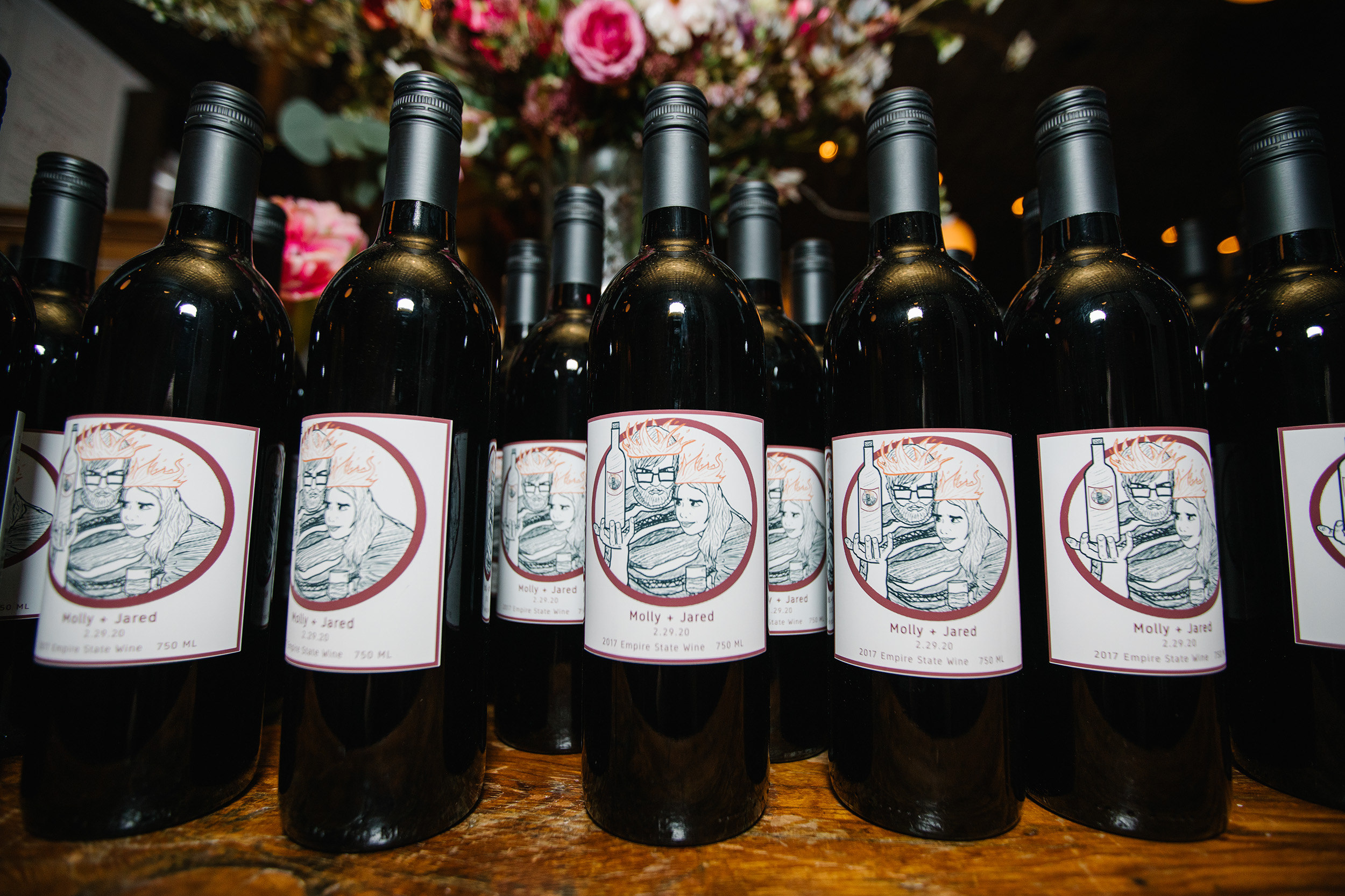 Custom Wedding Wine Labels
