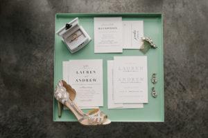 Modern Glam Wedding Flatlay