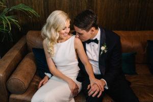 Romantic Modern Wedding Portrait