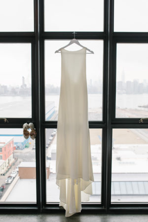Sleek BHLDN Ivory Wedding Gown