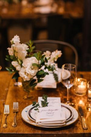Small White Wedding Centerpiece