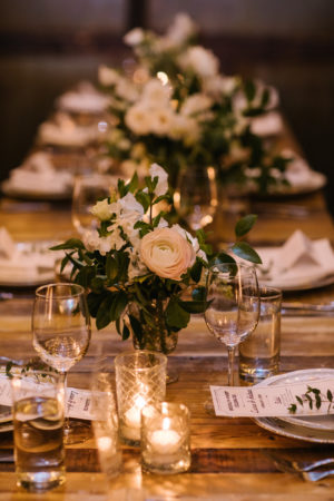 Tea Light Wedding Reception Decor