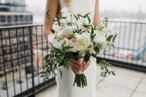 White Peony Rose Jasmine Wedding Bouquet