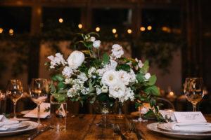 White Rose Wedding Centerpiece