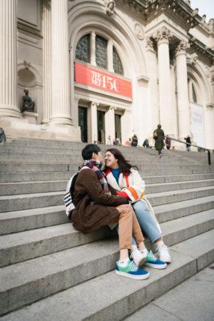 Engagement Photo Shoot Met Steps