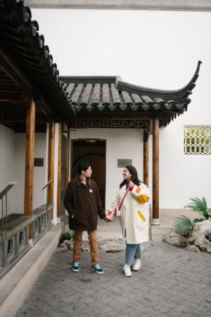 Met Chinese Garden Engagement Photos-1