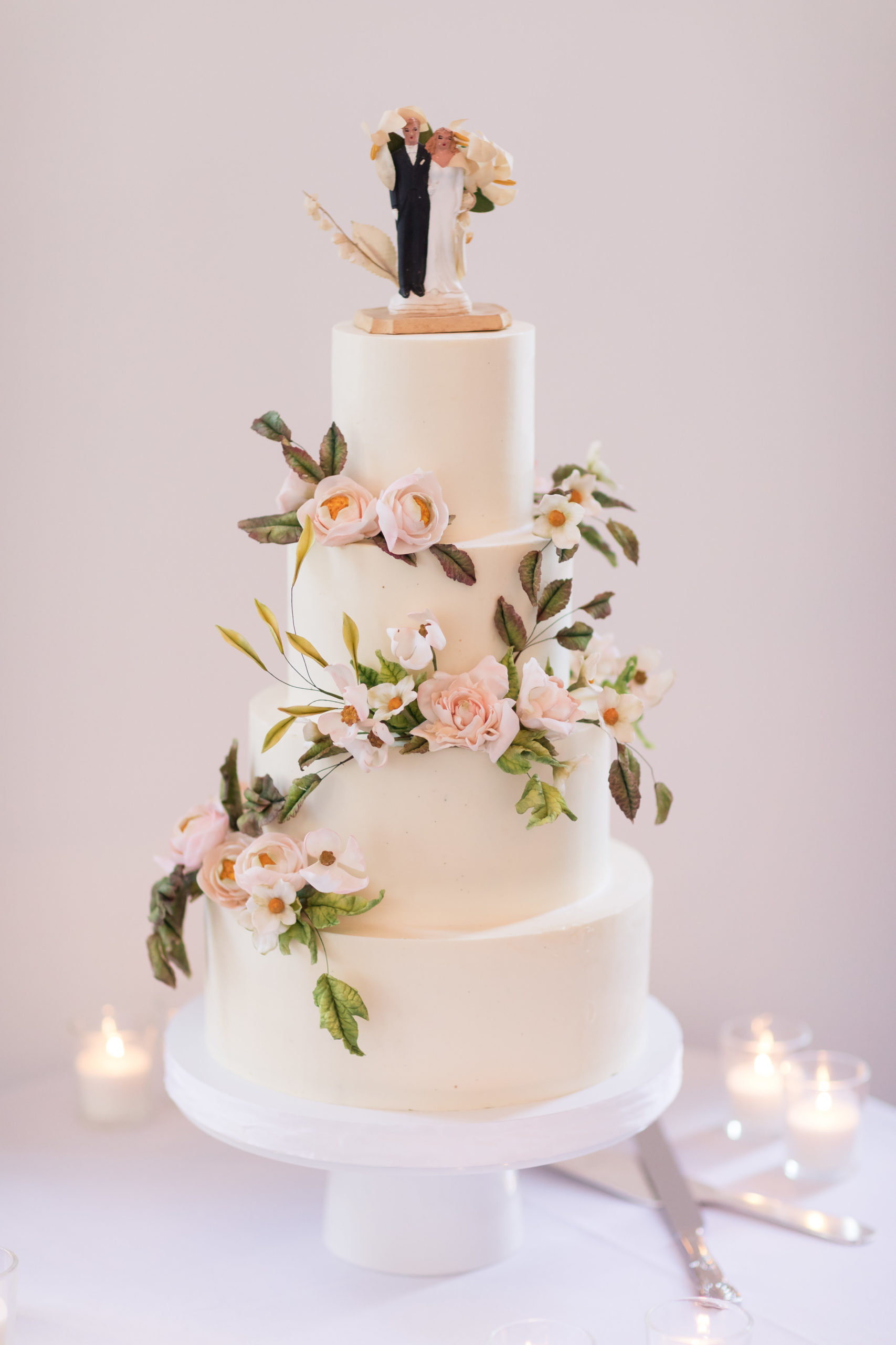 Classic Heirloom Wedding Cake Topper