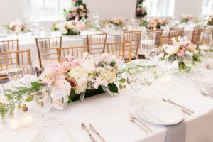 Elegant Blush and Ivory Wedding Tablescape