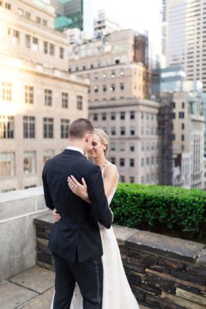 New York City Rooftop Wedding Photo