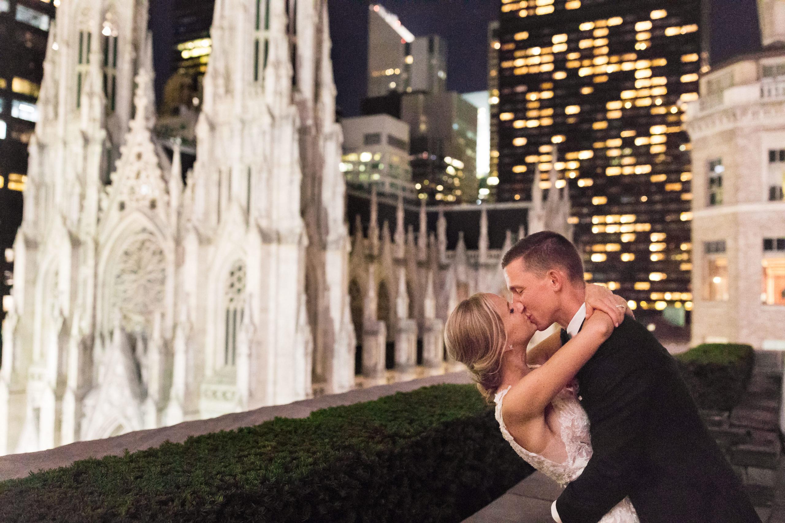 Nighttime in New York Wedding