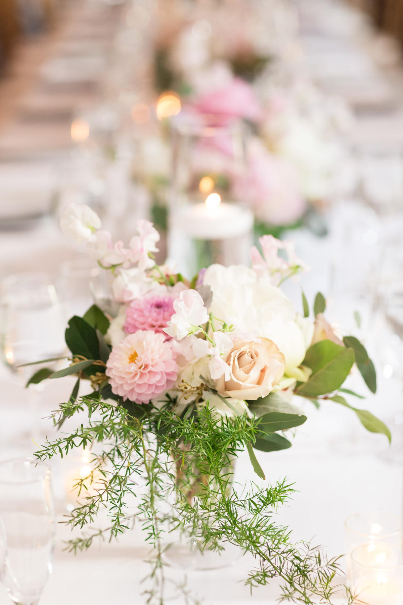 Rose Dahlia Wedding Centerpiece