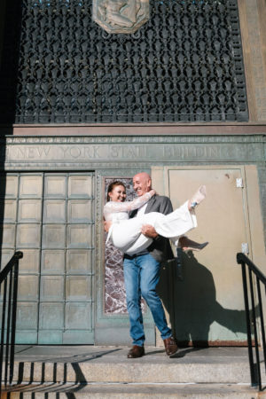 Surprise City Hall Elopement in NYC-6