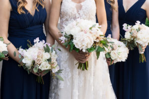 White and Blush Wedding Bouquets