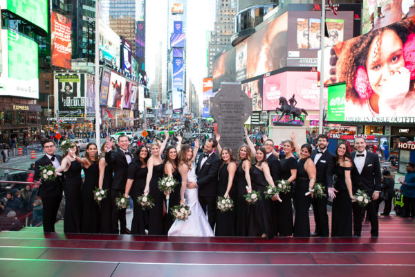 Bridal Party in Times Square