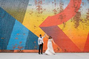 Brooklyn Mural Wedding Portrait