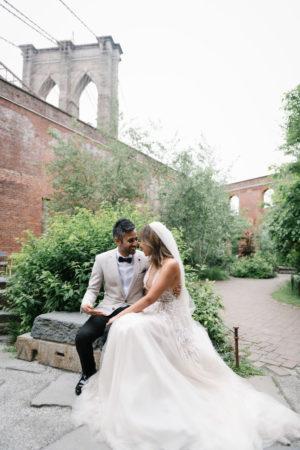 Dumbo Brooklyn Bridge Wedding Photo