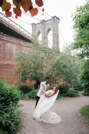 Dumbo Brooklyn Wedding Portrait